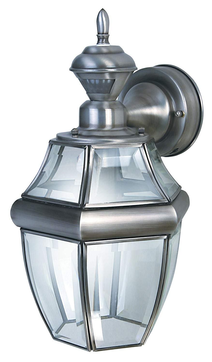 Heath Zenith Sl 4166 Sa Motion Activated Six Sided Carriage Light Within Silver Outdoor Lanterns (View 15 of 20)
