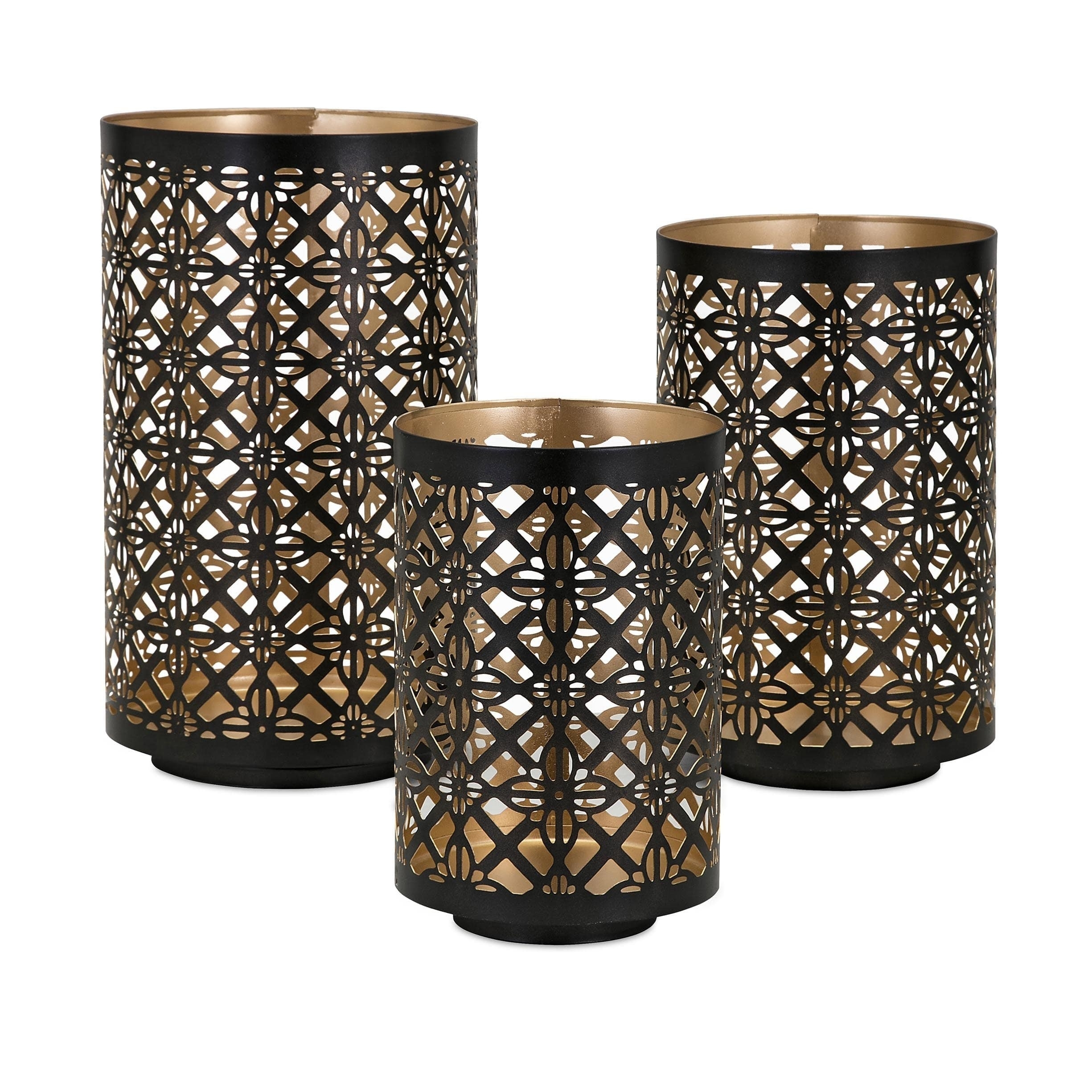 Helena Pierced Outdoor Lanterns (Set Of 3) – Free Shipping Today Pertaining To Set Of 3 Outdoor Lanterns (View 10 of 20)