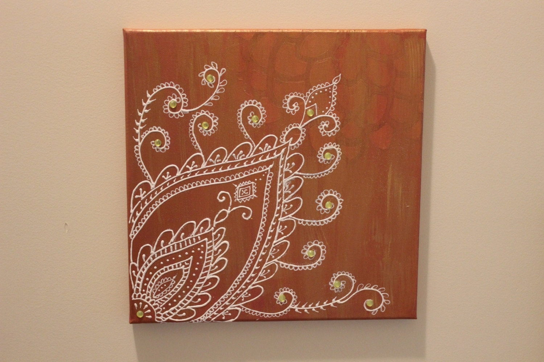 Henna Wall Art Makedescom, Henna Wall Art - Swinki Morskie with regard to Henna Wall Art (Image 12 of 20)