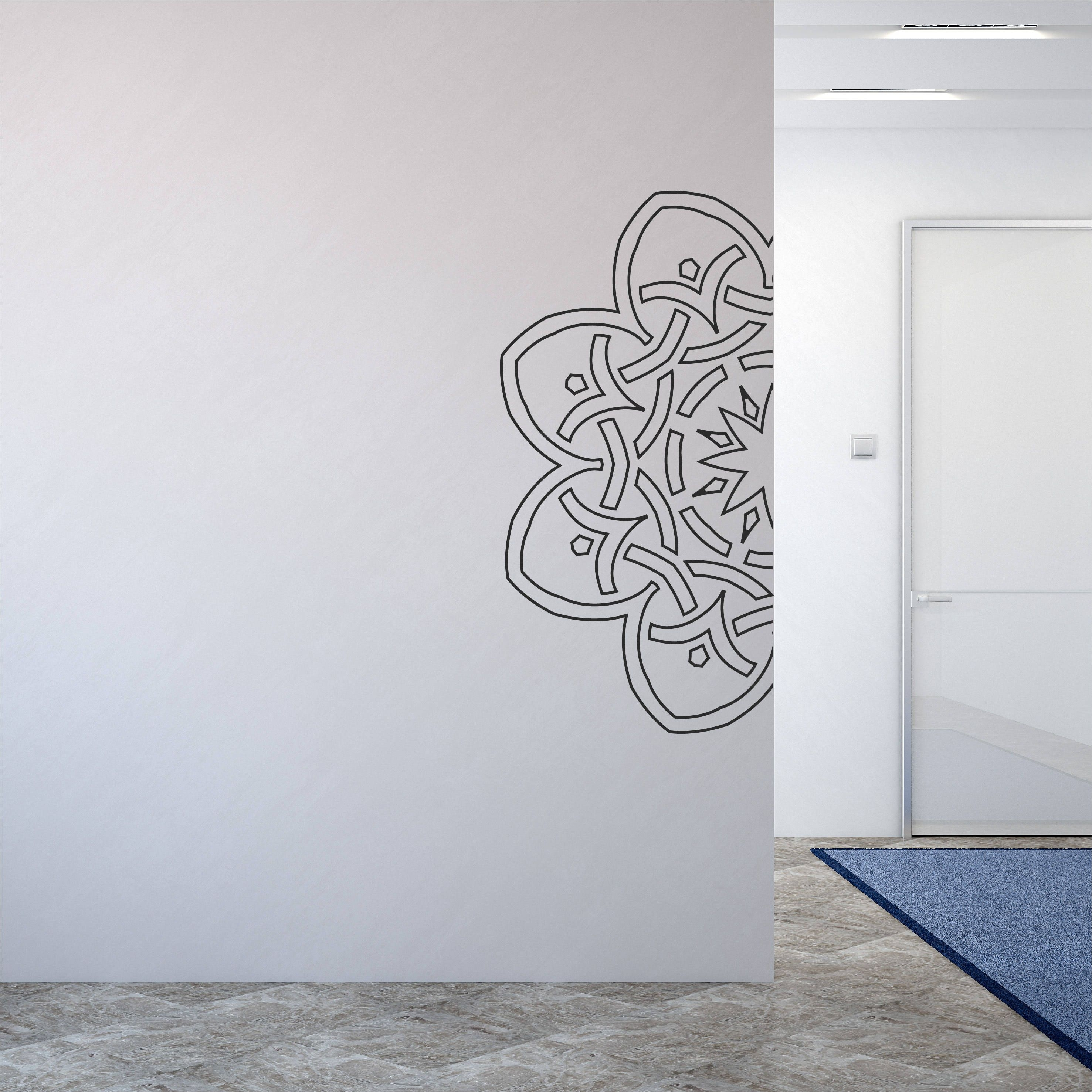 Henna Wall Decal Geometric Wall Sticker Pattern Design Hippie Decor intended for Henna Wall Art (Image 14 of 20)