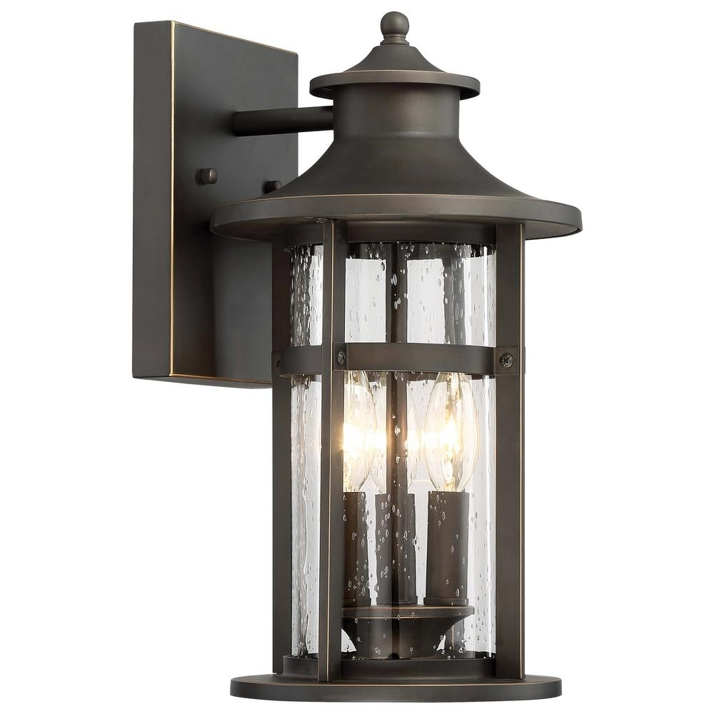 Highland Ridge Collection 3-Light Oil Rubbed Bronze With Gold within Outdoor Oil Lanterns (Image 8 of 20)