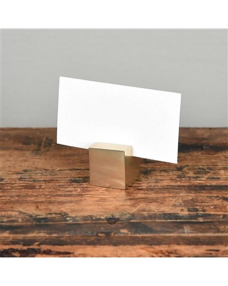 Homart Brass Cast Iron Cube Place Card Holder - Areohome with Brass Iron Cube Tables (Image 18 of 30)