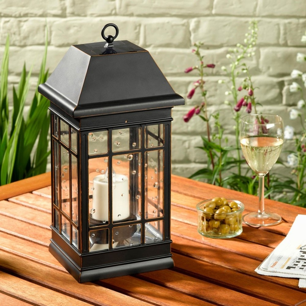 Home Decor: Appealing Solar Lanterns And Seville Lantern Powered inside Outdoor Lanterns At Target (Image 8 of 20)