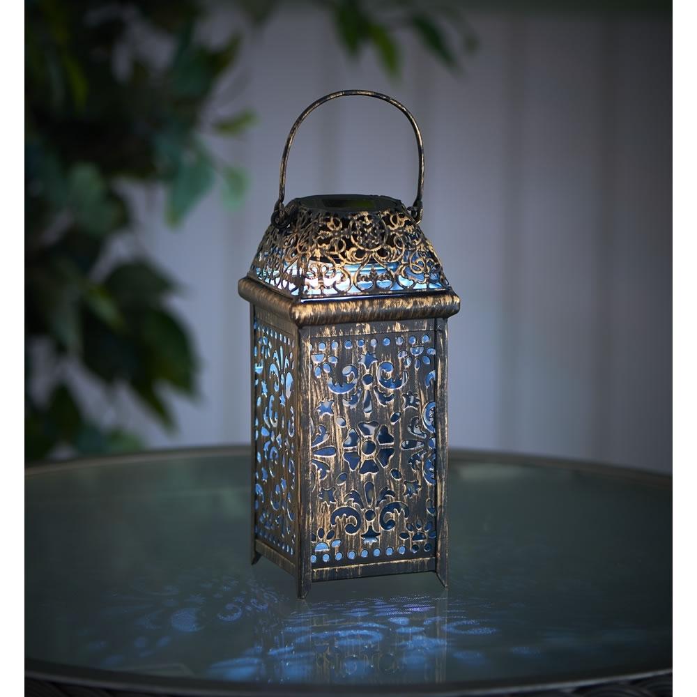 Home Decor: Fetching Solar Lanterns & Wilko Lantern Moroccan Metal with regard to Moroccan Outdoor Lanterns (Image 9 of 20)