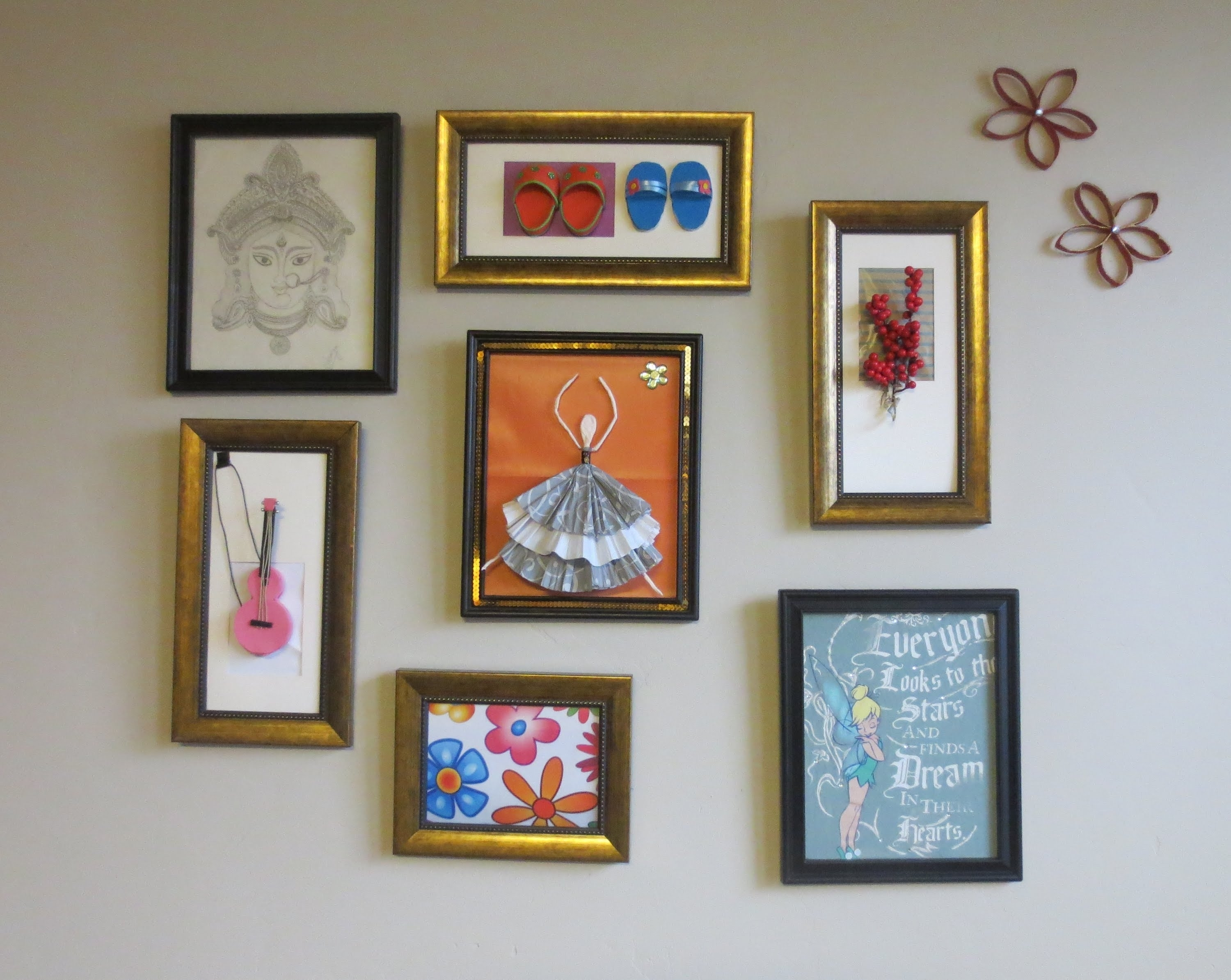 Home Decor : Tshirt Graphic & 3D Wall Art Picture Frame Collage in Cheap Framed Wall Art (Image 11 of 20)