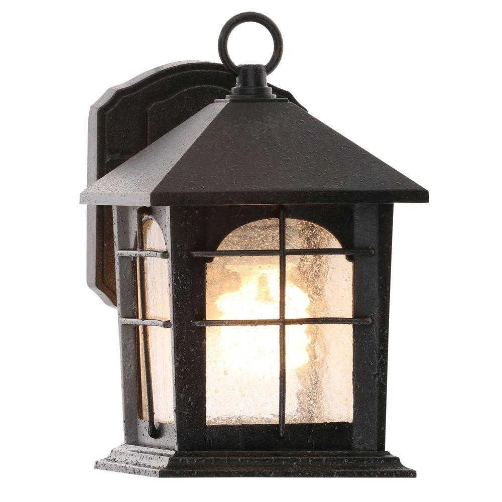 Home Decorators Collection Brimfield 1-Light Aged Iron Outdoor Wall in Outdoor Iron Lanterns (Image 9 of 20)
