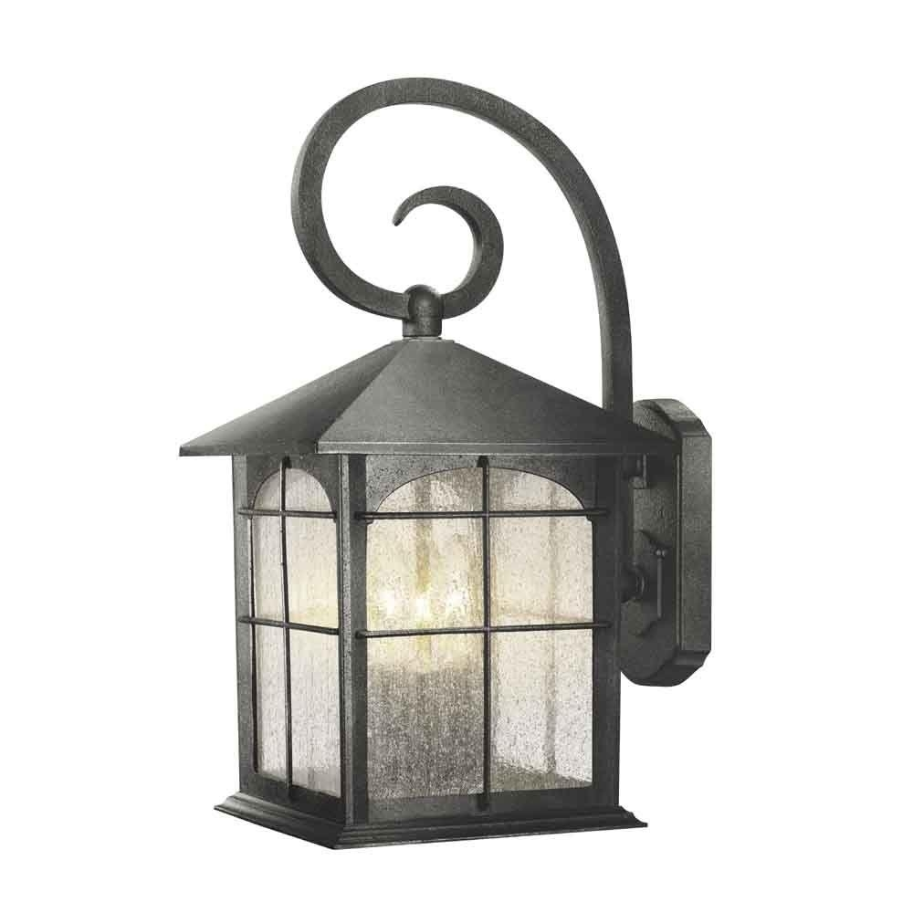 Home Decorators Collection Brimfield 3 Light Aged Iron Outdoor Wall Intended For Outdoor Vinyl Lanterns (View 5 of 20)