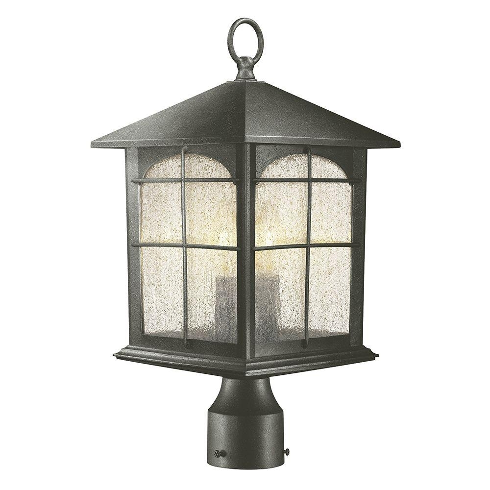 Home Decorators Collection Brimfield 3-Light Outdoor Aged Iron Post with regard to Outdoor Lanterns on Post (Image 6 of 20)
