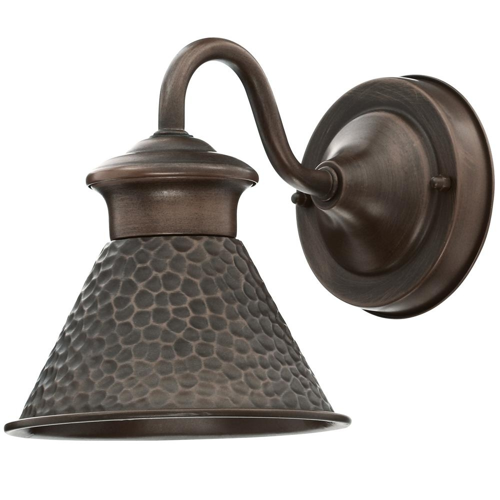 Home Decorators Collection Essen 1-Light Antique Copper Outdoor Wall inside Antique Outdoor Lanterns (Image 9 of 20)