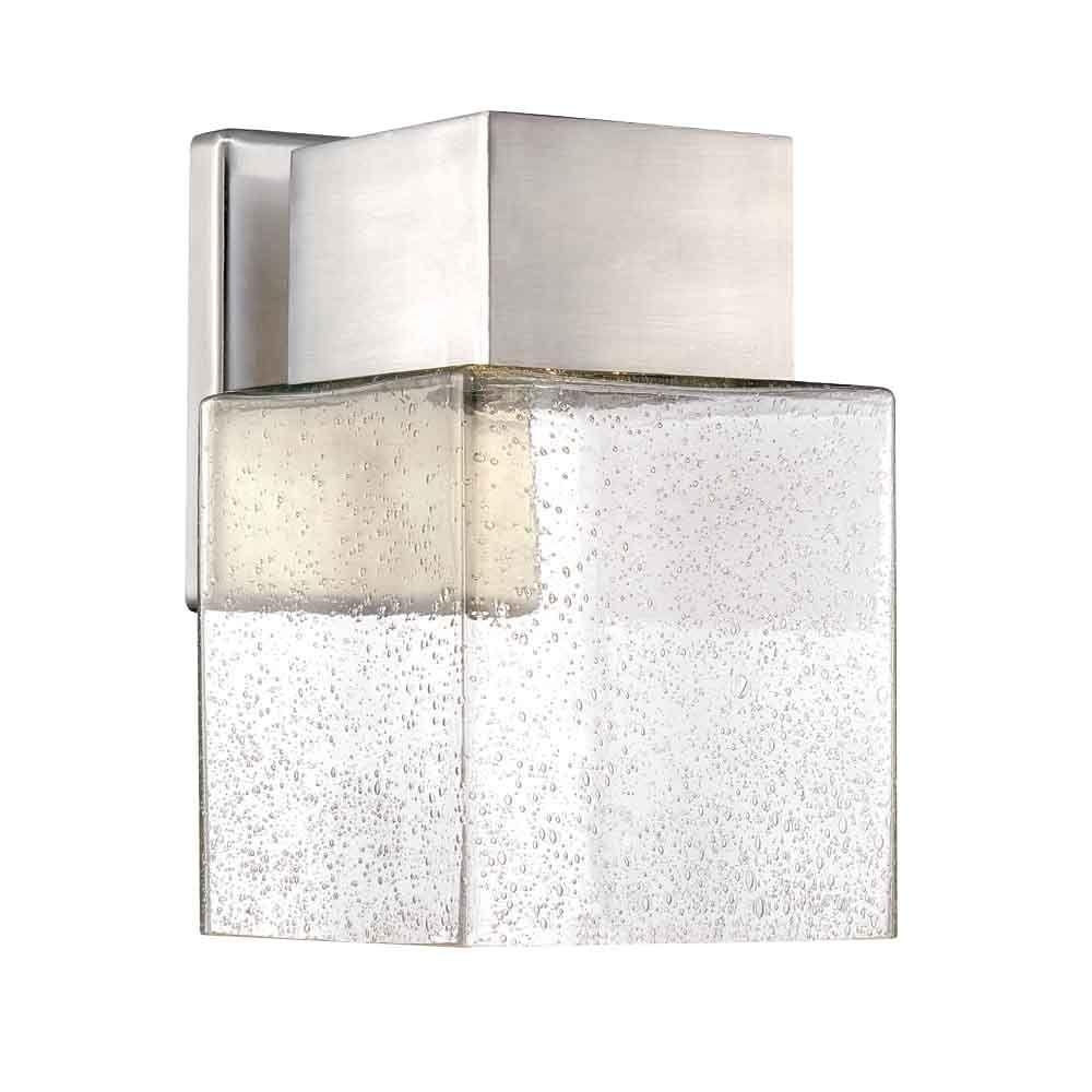 Home Decorators Collection Essex Brushed Nickel Outdoor Led Powered for Modern Outdoor Lanterns (Image 9 of 20)