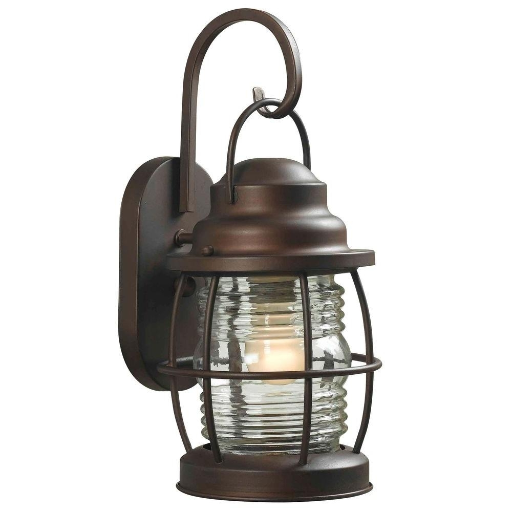 Home Decorators Collection Harbor 1-Light Copper Bronze Outdoor throughout Outdoor Lanterns Lights (Image 7 of 20)