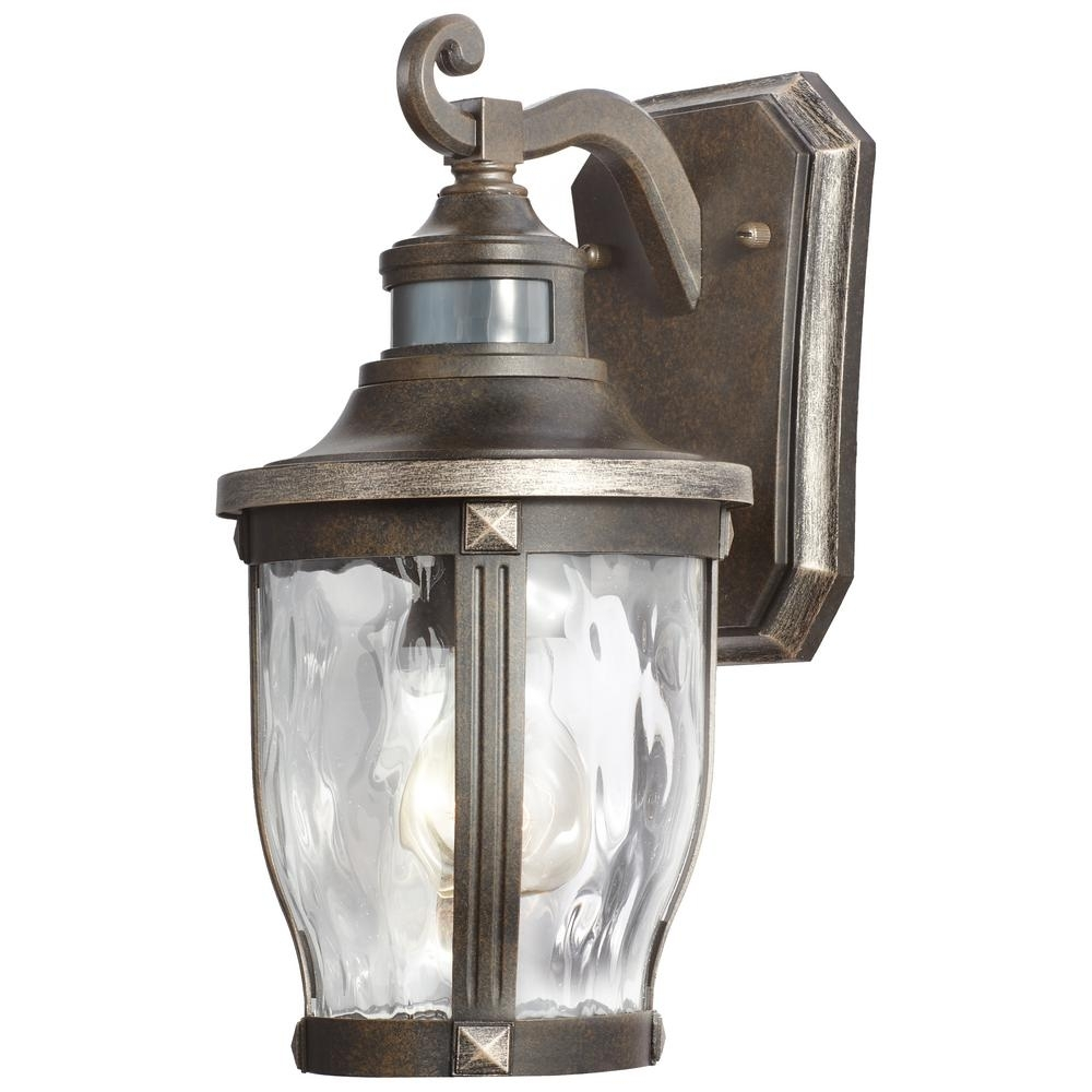 Home Decorators Collection Mccarthy 1-Light Bronze With Gold inside Outdoor Motion Lanterns (Image 9 of 20)