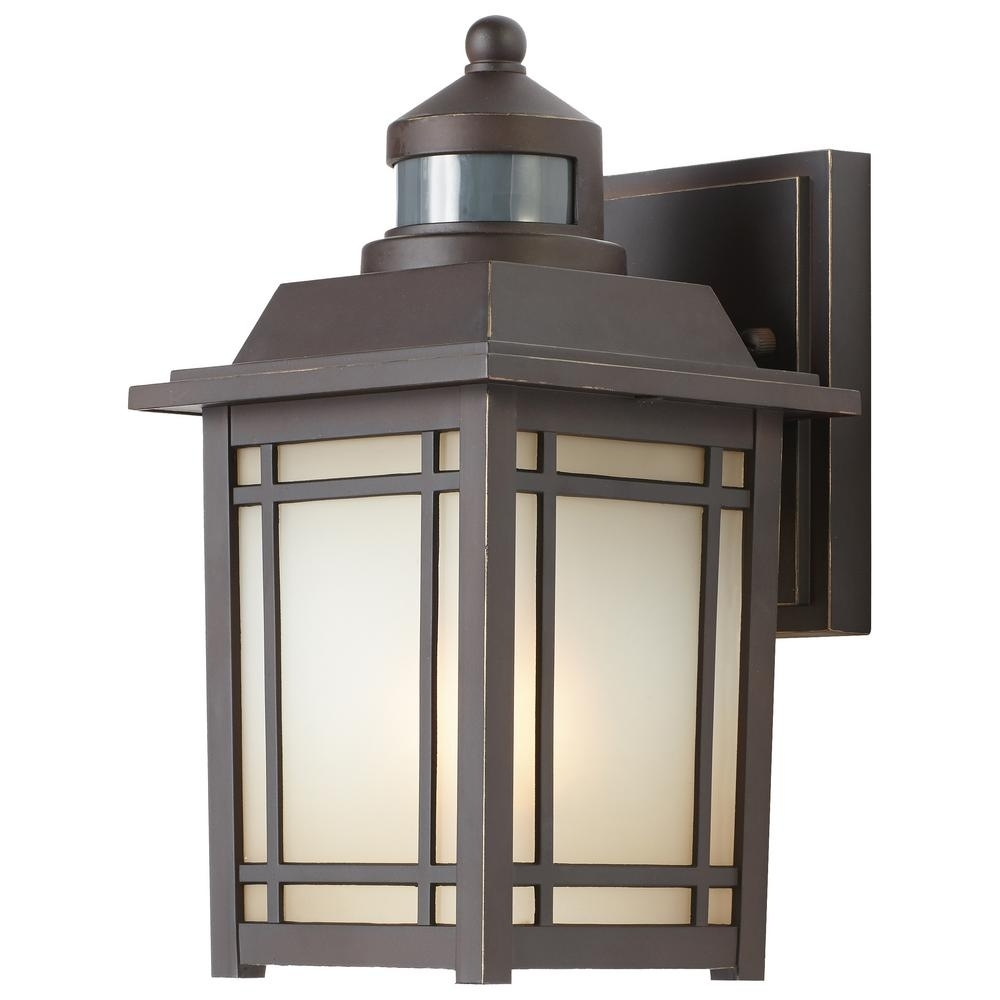 Home Decorators Collection Port Oxford 1-Light Oil-Rubbed Chestnut for Outdoor Wall Lanterns (Image 10 of 20)
