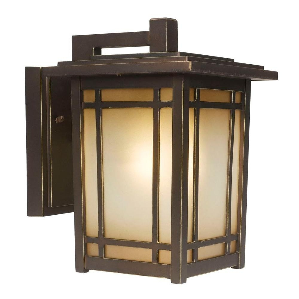 Home Decorators Collection Port Oxford 1 Light Oil Rubbed Chestnut Intended For Outdoor Vinyl Lanterns (View 6 of 20)