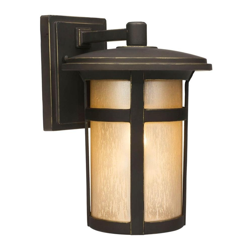 Home Decorators Collection Round Craftsman 1-Light Dark Rubbed inside Outdoor Round Lanterns (Image 8 of 20)