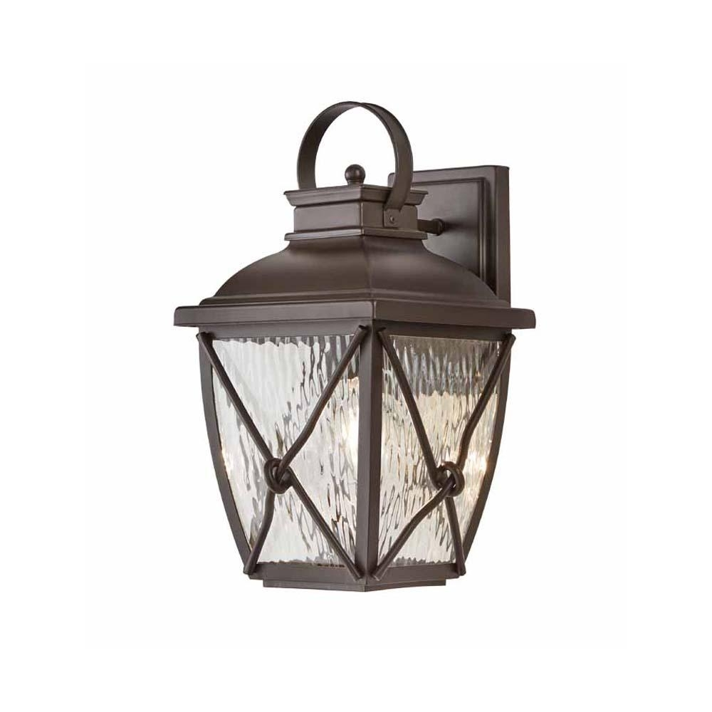 Home Decorators Collection Springbrook 1 Light Rustic Outdoor Wall With Regard To Outdoor Vinyl Lanterns (View 7 of 20)