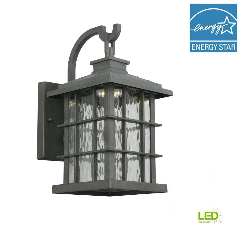 Home Decorators Collection Summit Ridge Collection Zinc Outdoor regarding Zinc Outdoor Lanterns (Image 10 of 20)