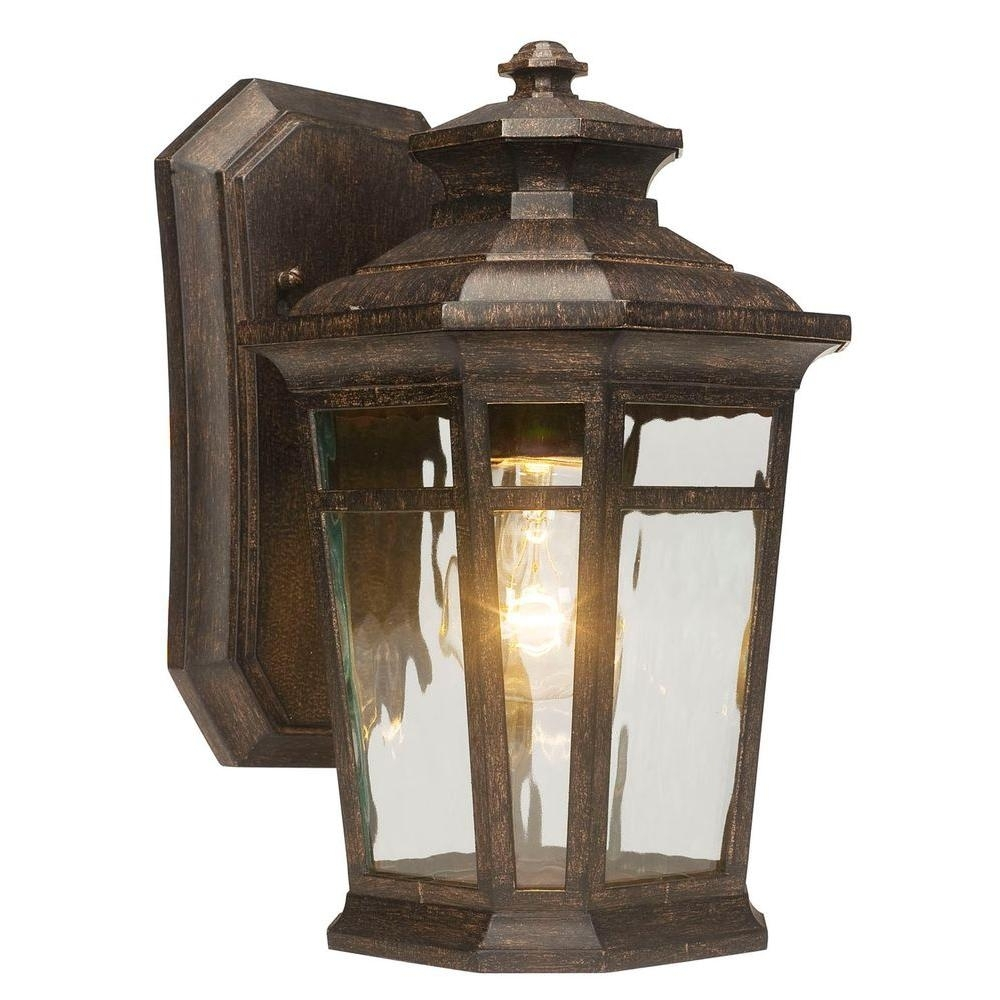 Home Decorators Collection Waterton 1-Light Dark Ridge Bronze for Outdoor Vinyl Lanterns (Image 8 of 20)