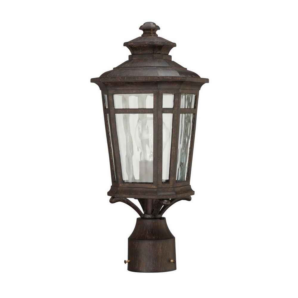 Home Decorators Collection Waterton 1-Light Outdoor Dark Ridge with regard to Outdoor Post Lanterns (Image 6 of 20)