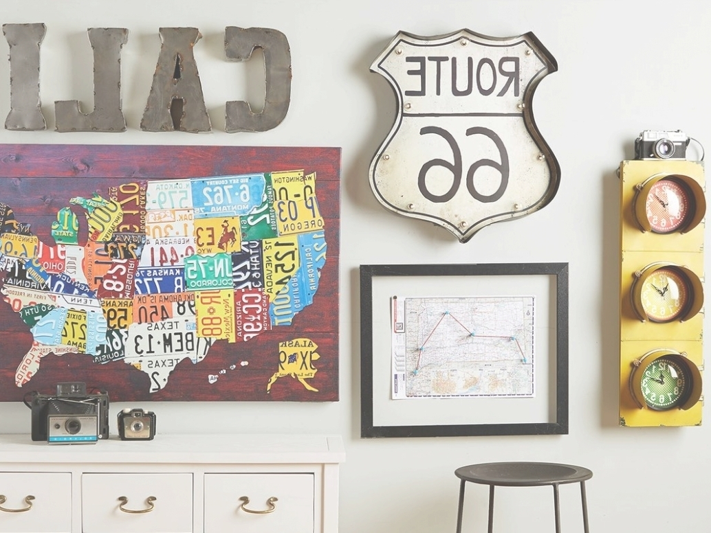 Home Design Ideas: Enchanting Photo Gallery Of License Plate Map Regarding License Plate Map Wall Art (View 17 of 20)