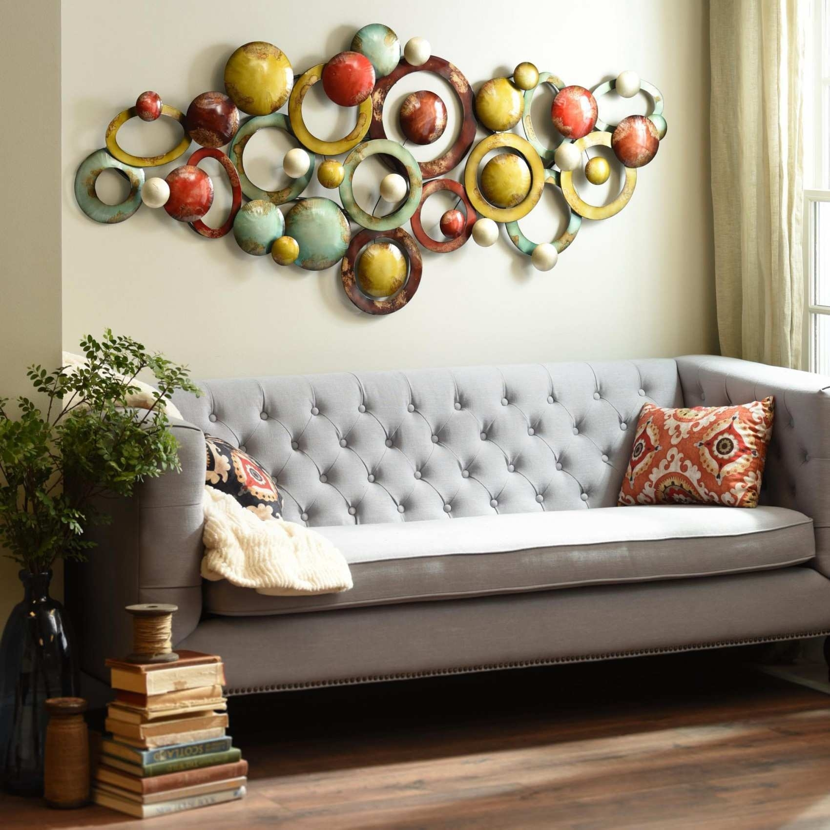 Home Wall Decor Ideas Awesome Living Room Metal Wall Art | Painting With Regard To Metal Wall Art Decors (View 15 of 20)
