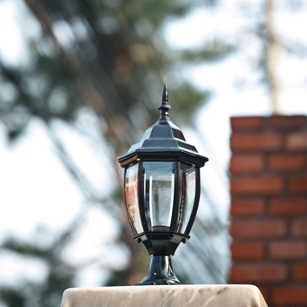 Homestia 1Pc 85V 280V Pillar Fence Lights Outdoor Lamp Post Cap pertaining to Outdoor Lanterns For Pillars (Image 8 of 20)
