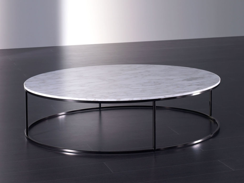 Horibble Low Round White Marble Coffee Table With Iron Frame Legs inside Modern Marble Iron Coffee Tables (Image 15 of 30)