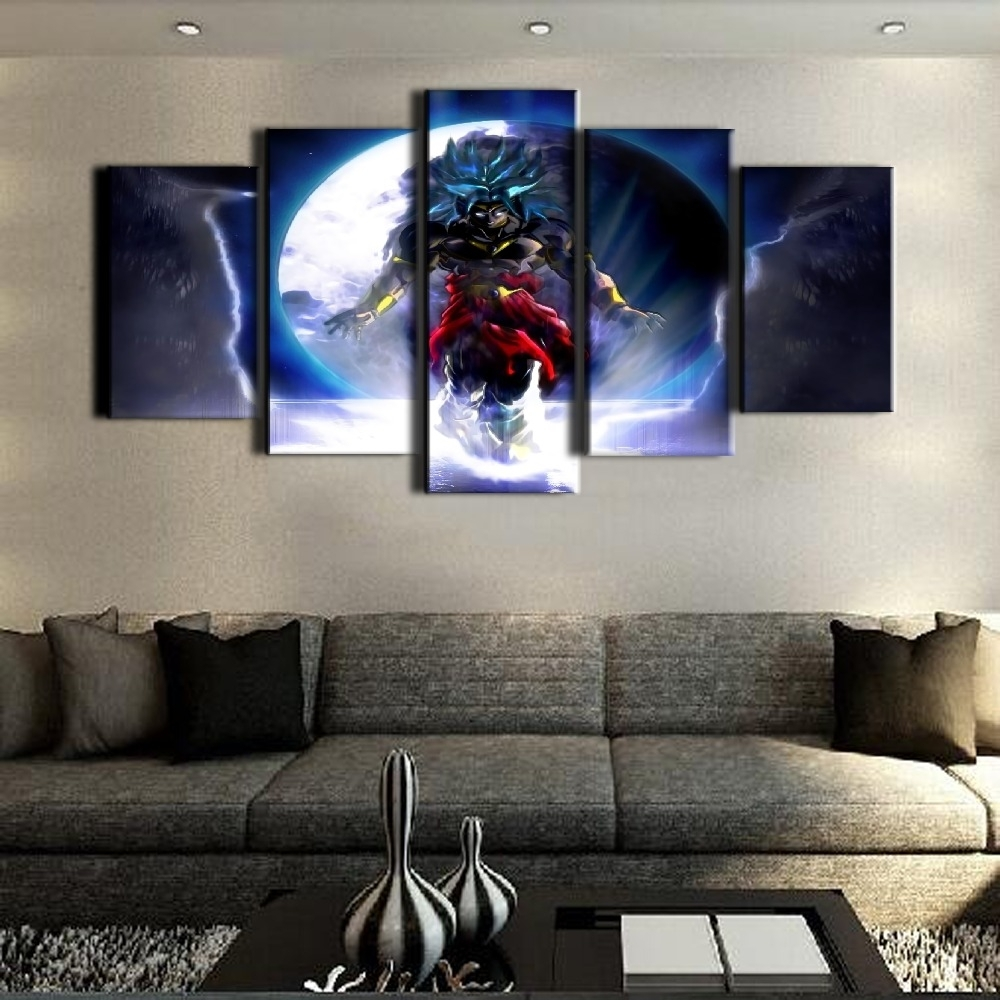 Hot Sel 5 Piece Canvas Art Dragon Ball Cuadros Decoracion Paintings inside 5 Piece Canvas Wall Art (Image 13 of 20)