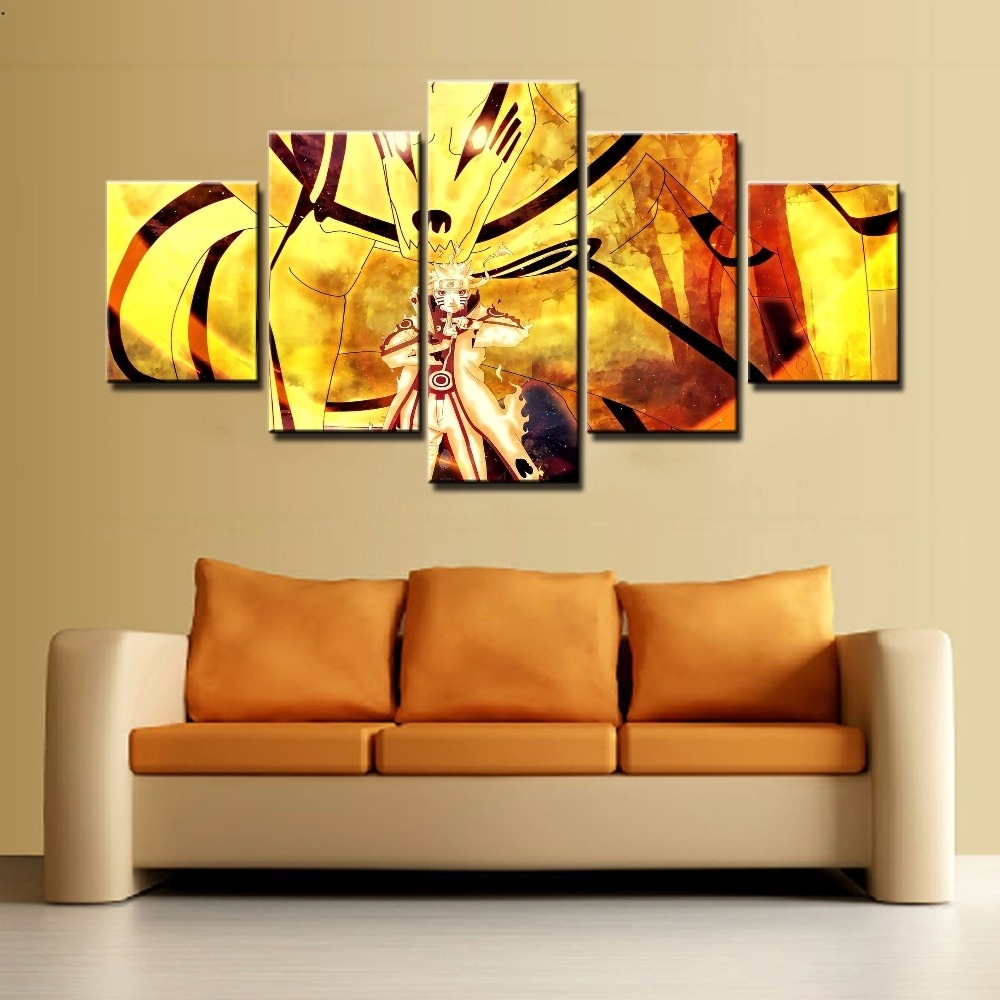 Hot Sel 5 Piece Wall Art Canvas Painting Naruto Cuadros Paintings On Pertaining To 5 Piece Wall Art Canvas (View 17 of 20)