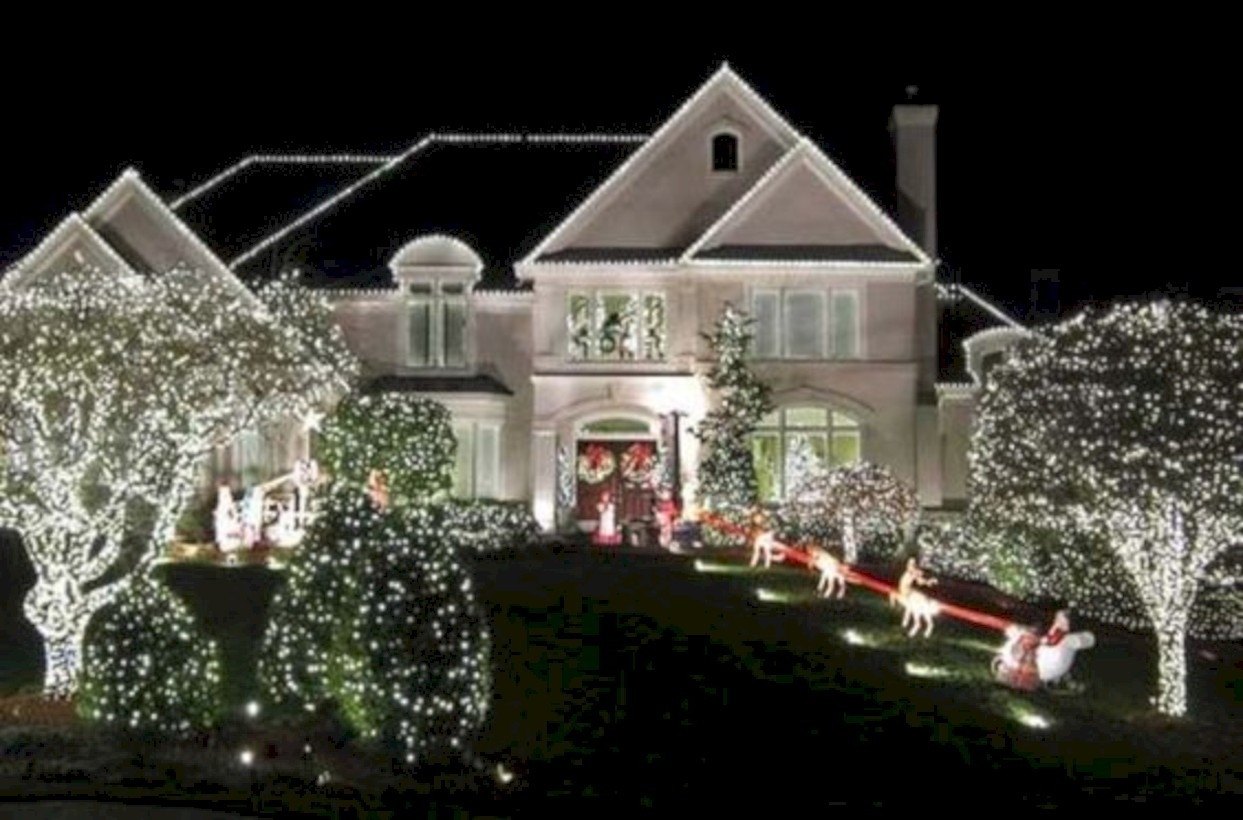 House Uplighting Landscape Lighting Ideas Outdoor Ground Diy inside Outdoor Lanterns for Christmas (Image 8 of 20)