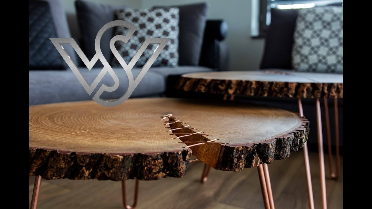 How To Build A Modern Live Edge Corset Coffee Table Furniture - Youtube regarding Chiseled Edge Coffee Tables (Image 9 of 30)