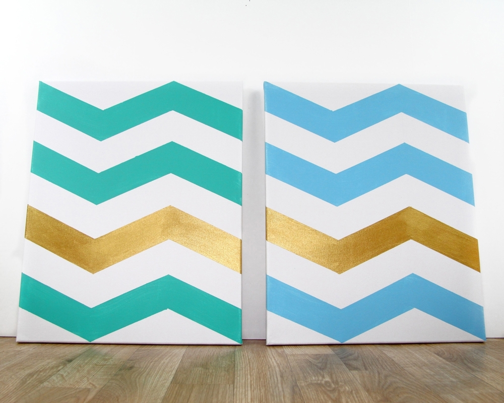 How To: Chevron Wall Art | | Regale Magazine For Chevron Wall Art (View 18 of 20)