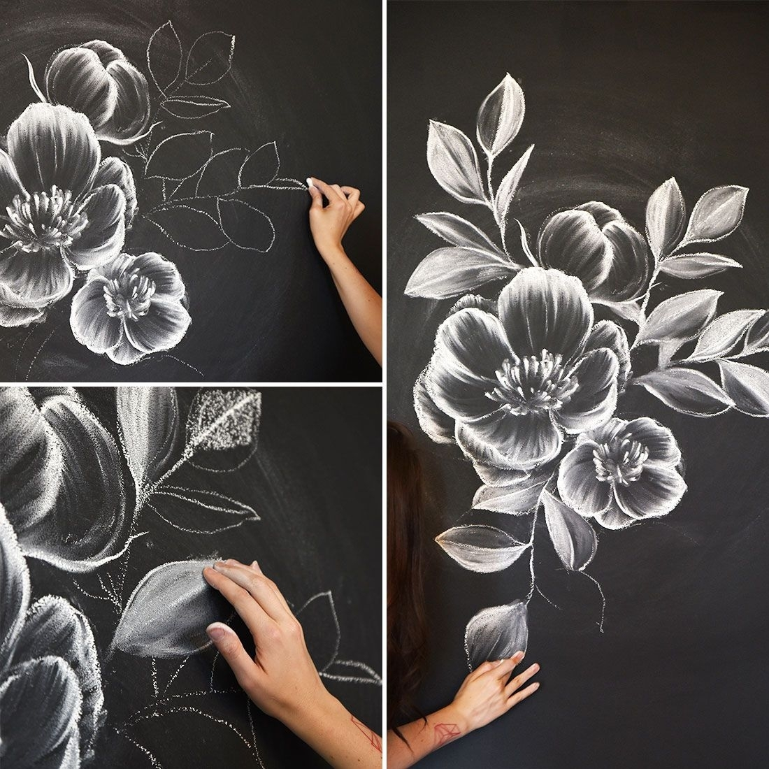 How To Create Gorgeous Chalk Art | H O M E | Pinterest | Create in Chalkboard Wall Art (Image 14 of 20)