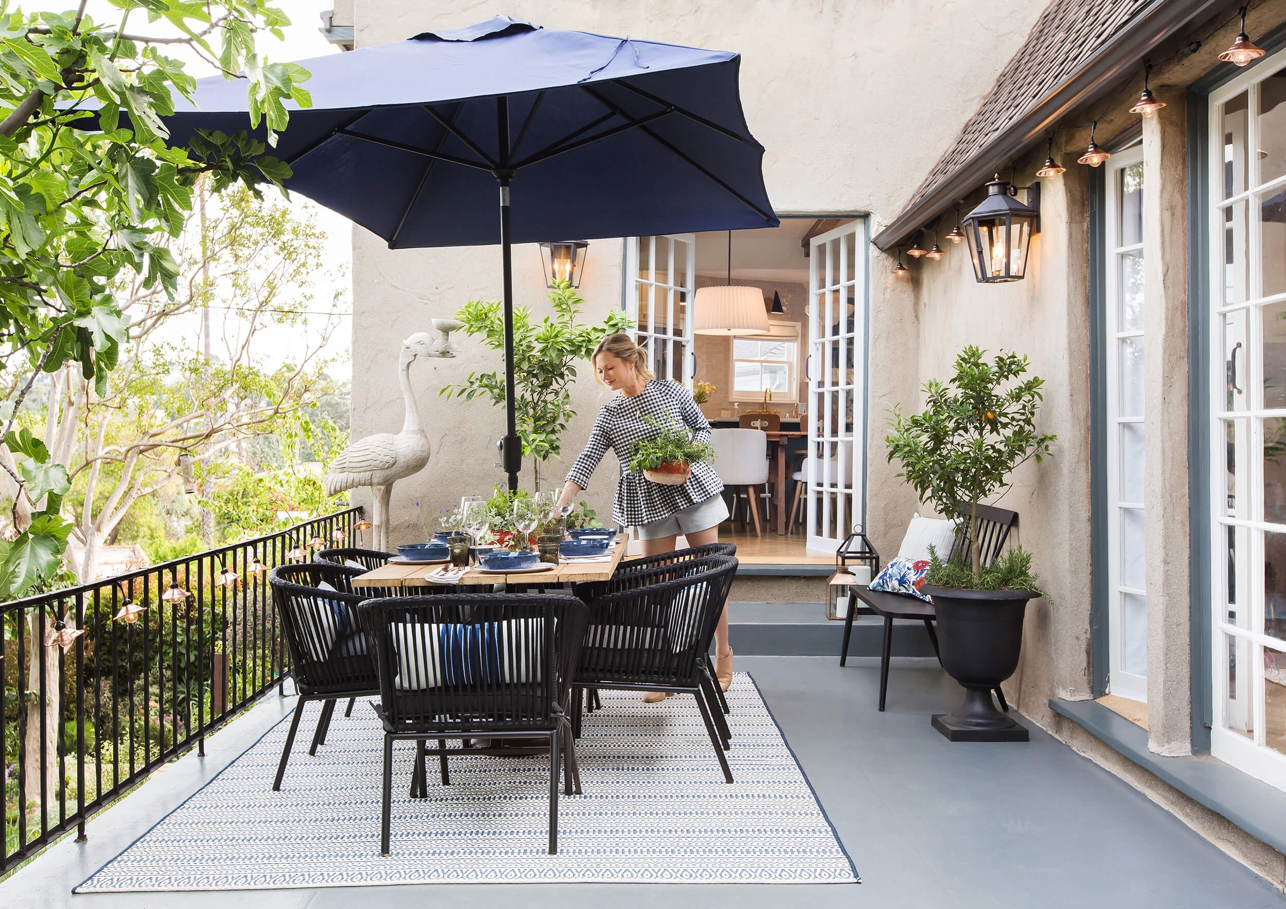 How To Decorate Your Outdoor Space (with All Target) – Emily Henderson In Outdoor Lanterns At Target (View 9 of 20)