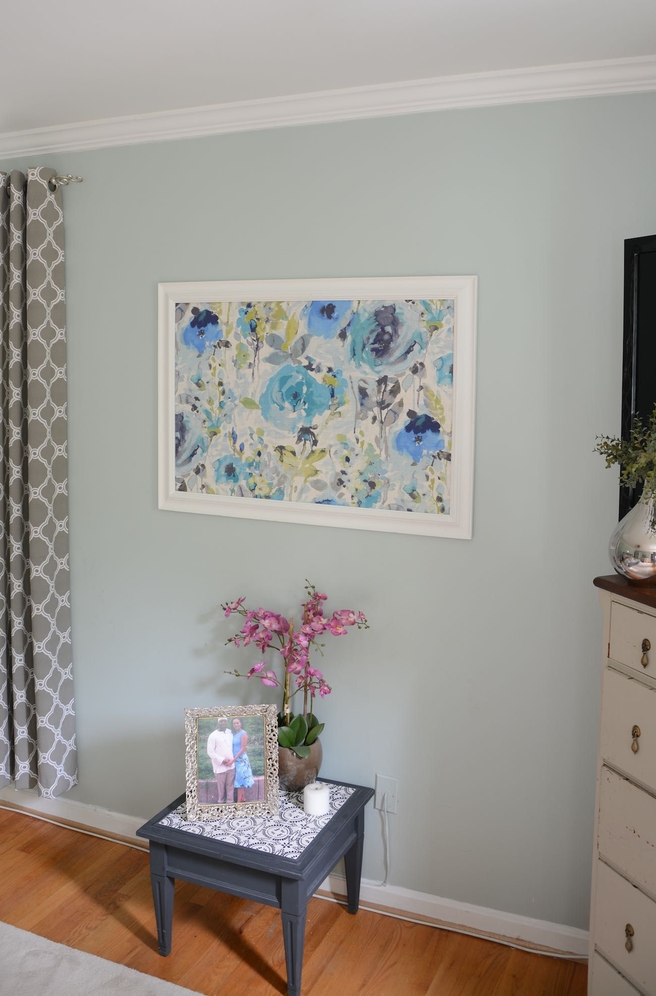 How To Frame Fabric For Wall Art With A Picture Frame | Inexpensive inside Inexpensive Wall Art (Image 10 of 20)