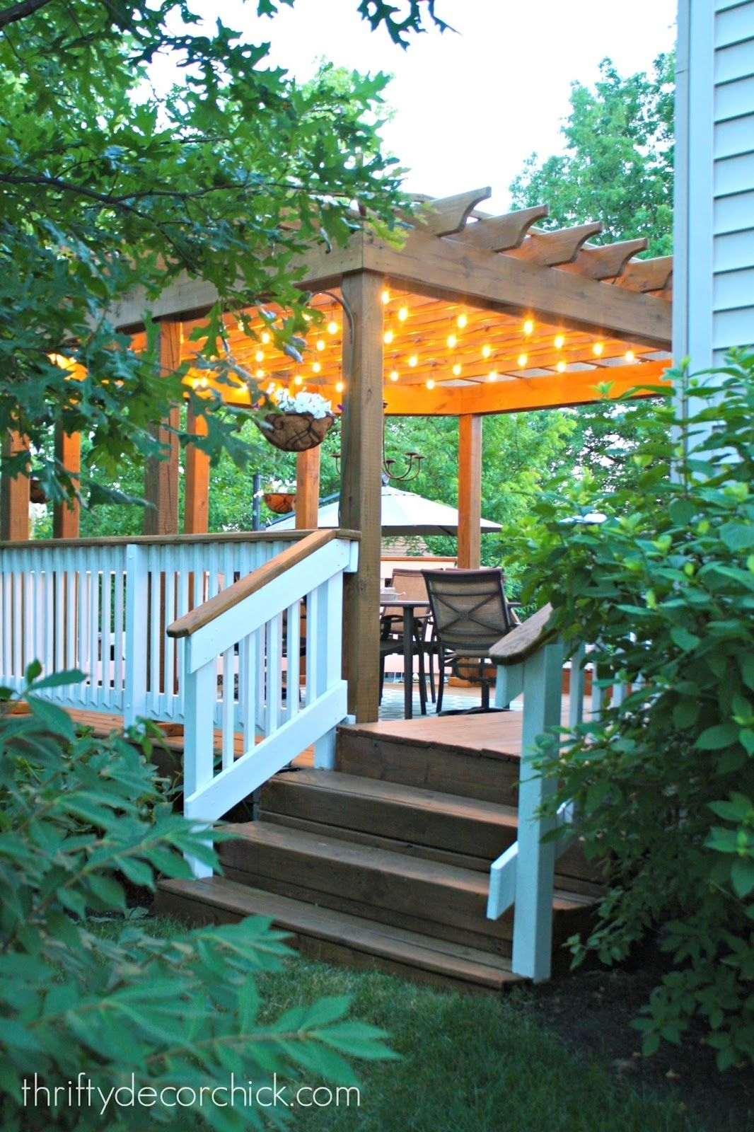How To Hang Outdoor String Lights | Pergolas, Lights And Decking With Regard To Outdoor Lanterns For Deck (View 17 of 20)