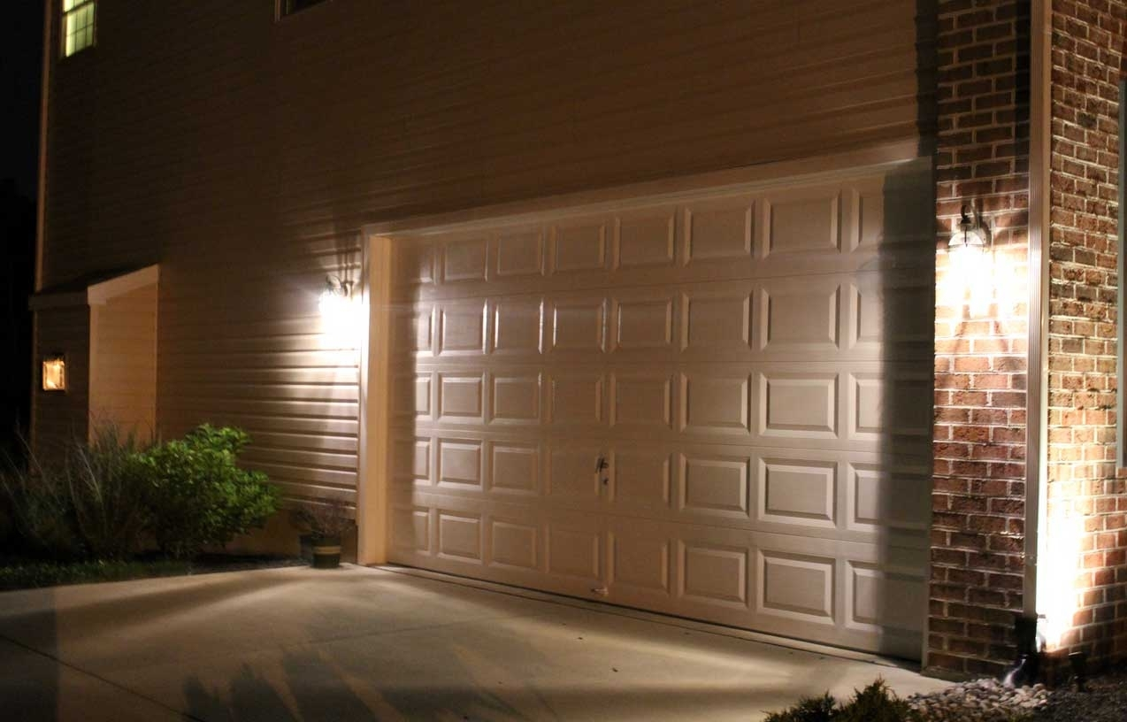 How To Install New Outdoor Lighting Flood Lights Video Hanging On regarding Outdoor Lanterns for Garage (Image 16 of 20)