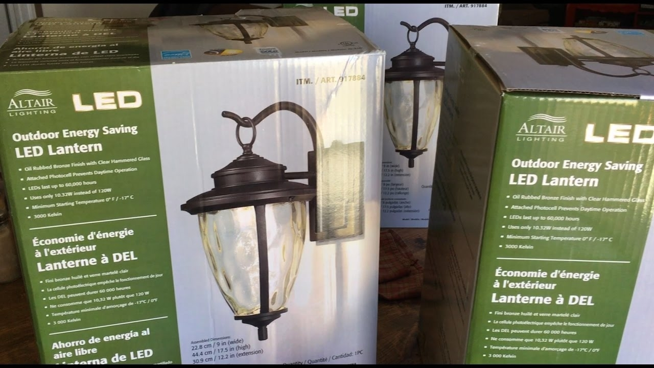 How To Install Outdoor Light Fixture – Altair Led Outdoor Energy Regarding Outdoor Lanterns At Costco (View 10 of 20)