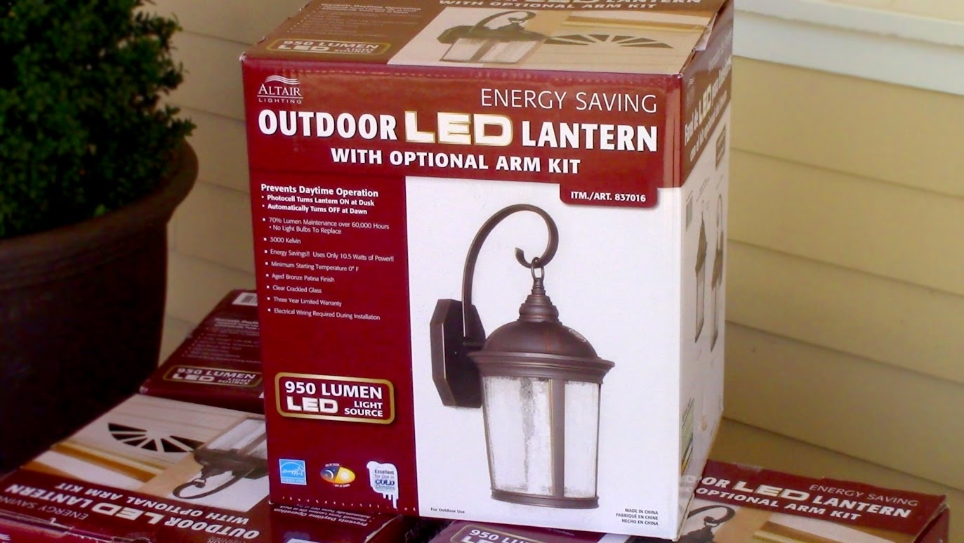 How To Install Outdoor Light Fixture – Costco's Outdoor Led Porch Inside Outdoor Lanterns With Led Lights (View 3 of 20)