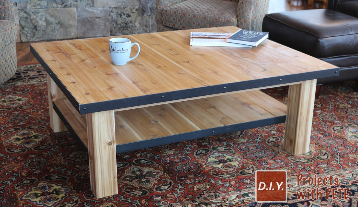 How To Make A Wood Coffee Table With Steel Accents for Mill Large Coffee Tables (Image 11 of 30)