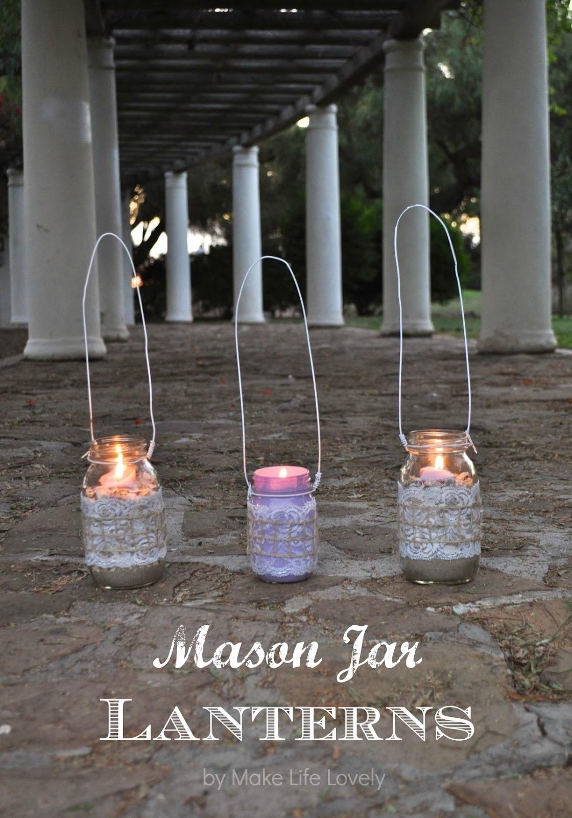 How To Make Mason Jar Lanterns - Make Life Lovely with regard to Outdoor Jar Lanterns (Image 11 of 20)