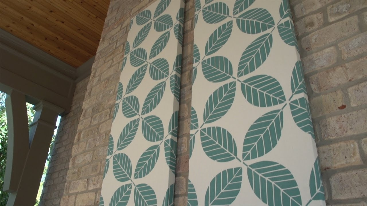 How To Make Outdoor Fabric Wall Art - Youtube throughout Fabric Wall Art (Image 16 of 20)
