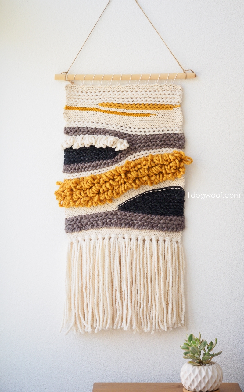 How To Make Your Own Woven Crochet Wall Hanging - One Dog Woof regarding Crochet Wall Art (Image 13 of 20)