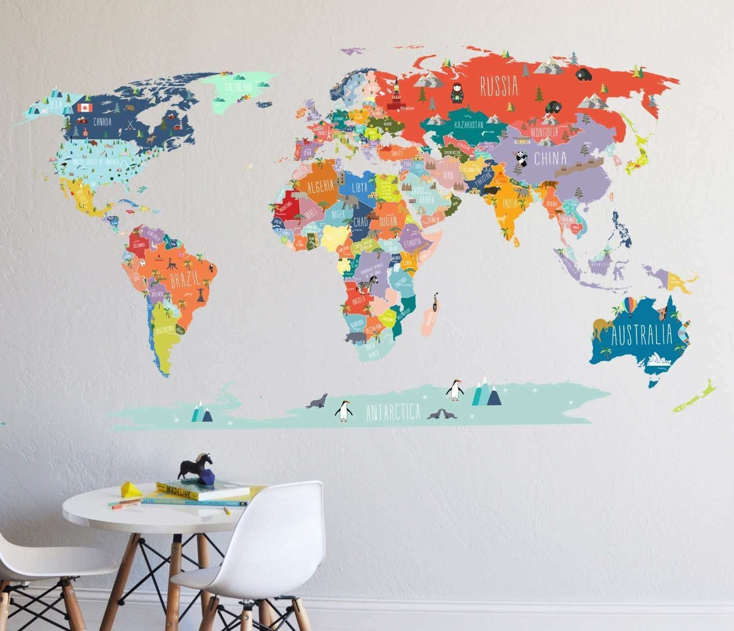 How To Print Vinyl Wall Decals Fresh Wall Decal World Map Intended For Vinyl Wall Art World Map (View 13 of 20)