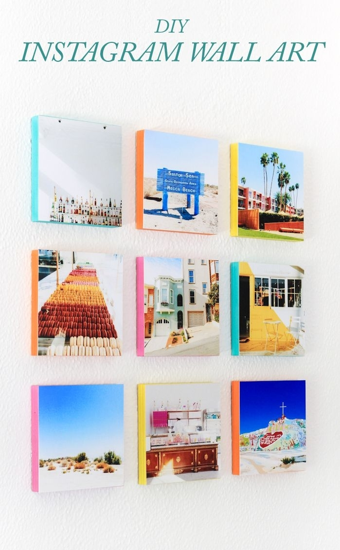 How To Turn Your Instagram Photos Into Wall Art | Bloggers' Best Diy within Instagram Wall Art (Image 12 of 20)