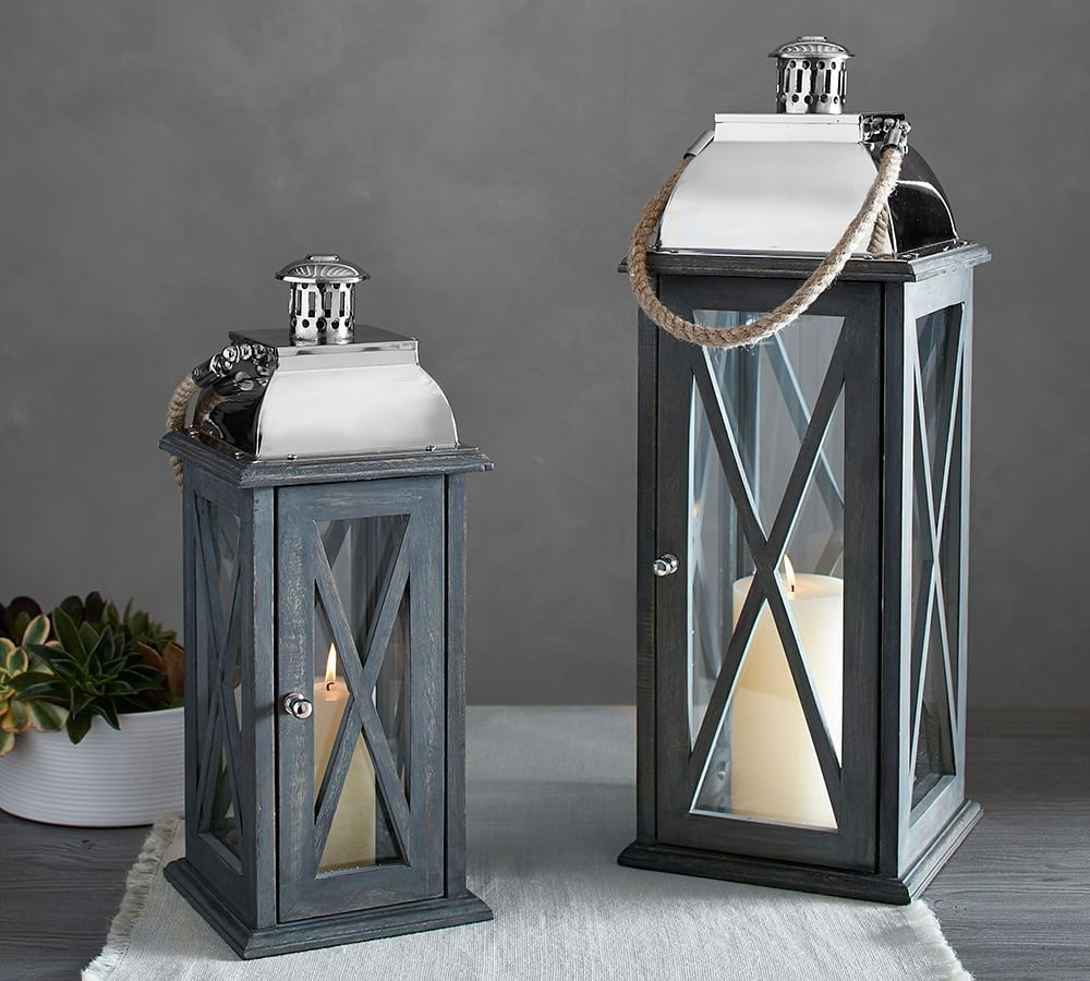 Hudson Lanterns | Home Decor | Pinterest | Jute, Barn And Steel intended for Outdoor Lanterns at Pottery Barn (Image 5 of 20)