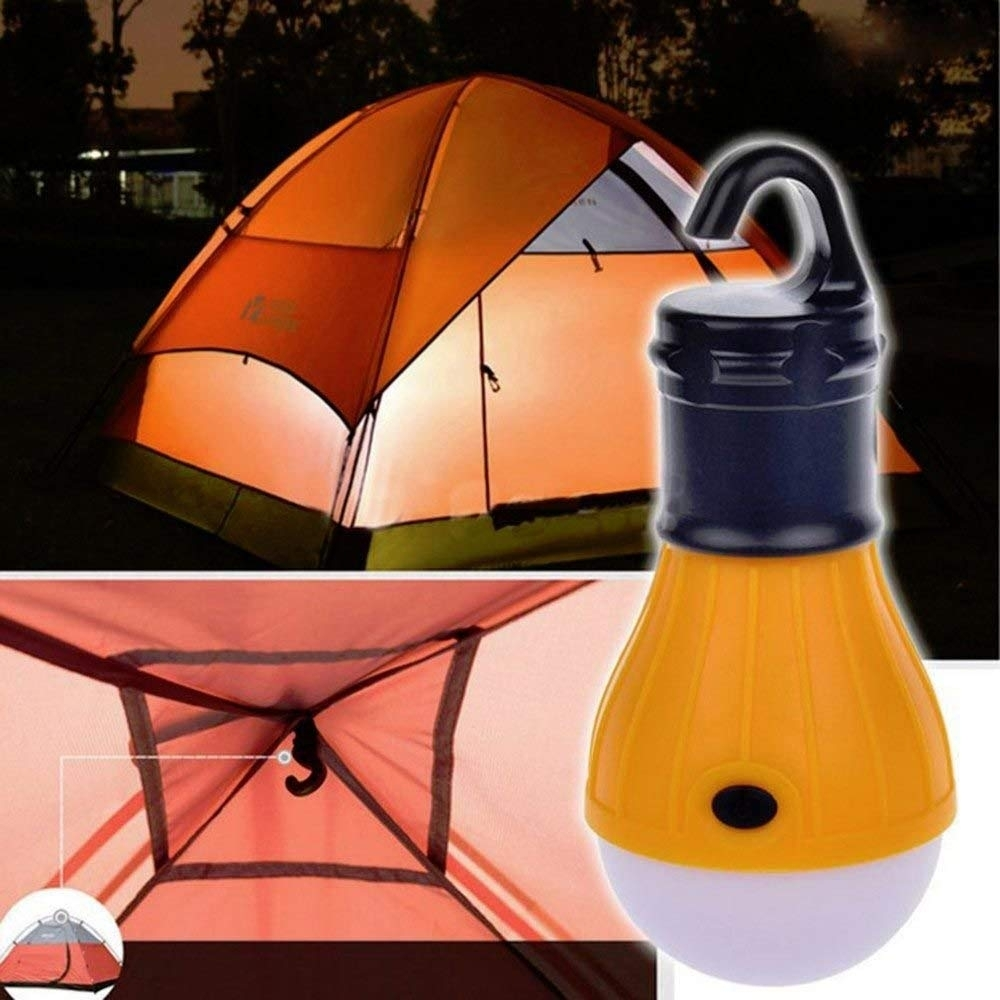 Huntgold New 3 Led Portable Outdoor Hanging Camping Tent Light Bulb inside Outdoor Orange Lanterns (Image 11 of 20)