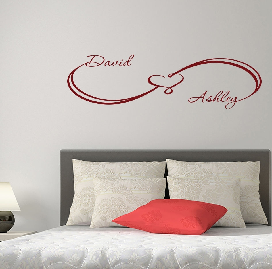 Hwhd Fashion Custom Wall Decals Infinity Sign Heart Decal Family with regard to Custom Wall Art (Image 12 of 20)