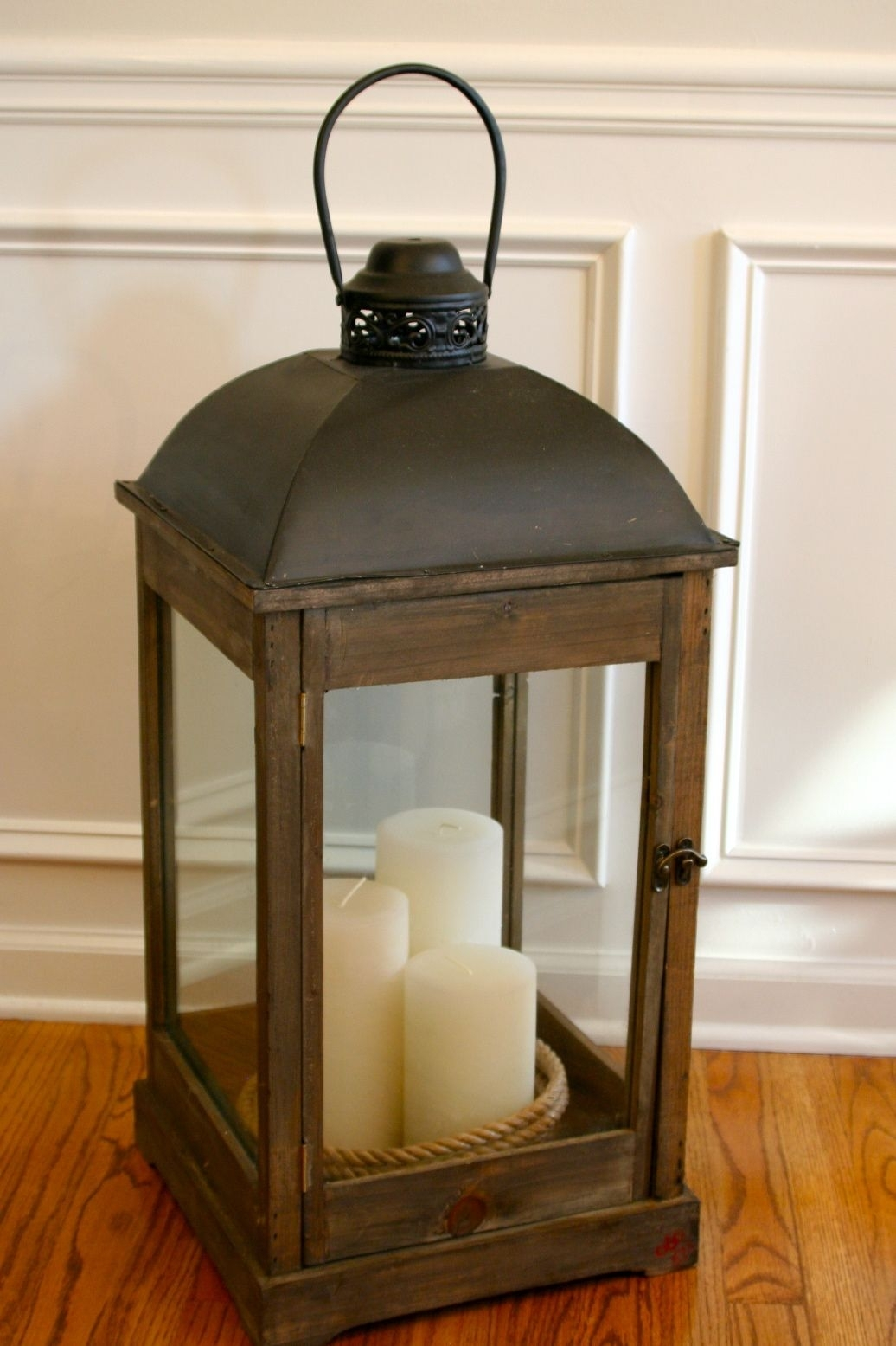 I Like The Candle Grouping | Decorations To Make | Pinterest with regard to Outdoor Oversized Lanterns (Image 8 of 20)