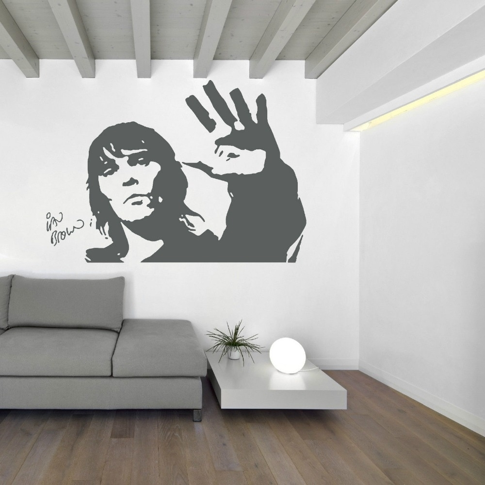 Ian Brown Stone Roses Wall Art Sticker Mural Vinyl Decal Music With Wall Art Stickers (View 18 of 20)